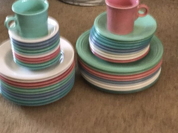 Fiesta Ware Place Setting For 10 10 Each Of