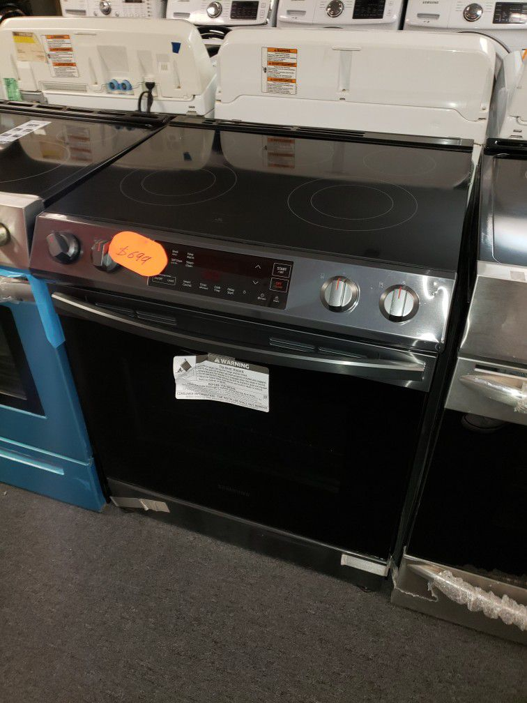 Samsung Slide In Electric Range Stove New Scratch And Dent