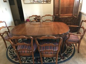 PRICE DROP!!!Beautiful dining room table, upholstered chairs and china cabinet. for Sale in Midlothian, VA