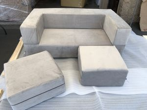$300 SPECIAL Brand new Eugene Modular Loveseat & Ottoman Sleeper. Living room home furniture game room kids queen bed for Sale in National City, CA