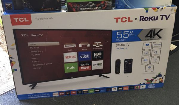 55 TCL roku smart 4K led Tv for Sale in City of Industry, CA - OfferUp