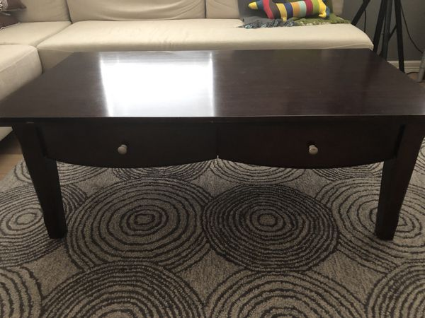 Matching Coffee Side Table Wooden Mahogany Color Furniture In San Antonio Tx Offerup