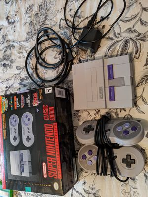Class SNES, with box and added games for Sale in West Los Angeles, CA