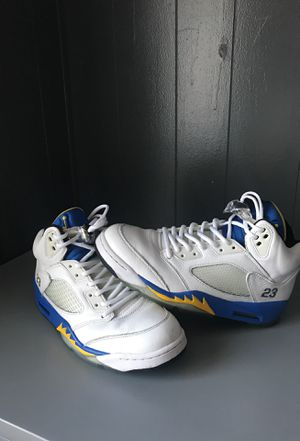 0a2dc6a315ed Nike Air Jordan 5 V Retro Laney SZ 9.5 Blue Yellow 1Used for Sale in  Palmdale