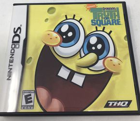 SPONGEBOB: TRUTH OR SQUARE game complete w/ manual - NINTENDO DS or 3DS Thumbnail