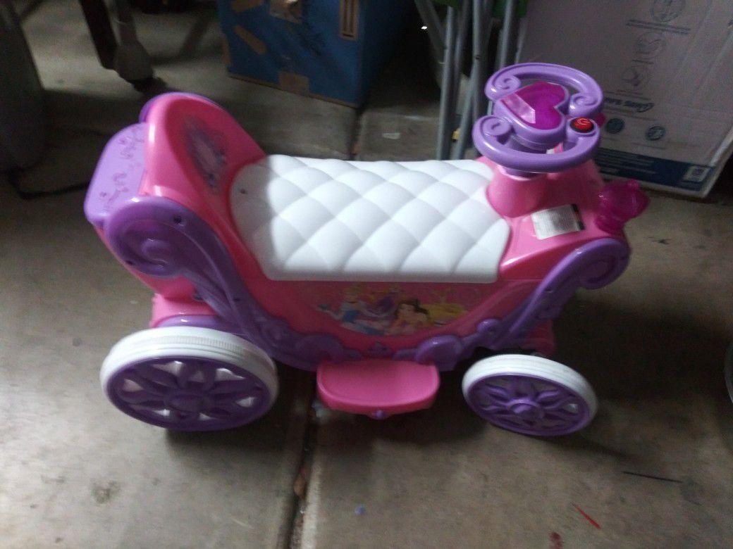 6v princess ride on toy