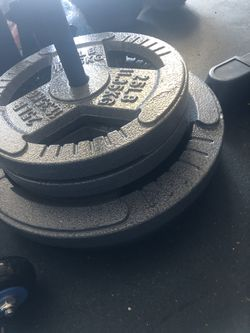 Loading Pin and 140 pounds Standard Plates Thumbnail