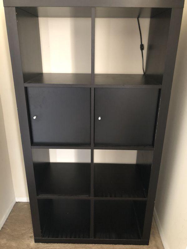 Ikea Expedit 8 Shelf Unit Black Brown