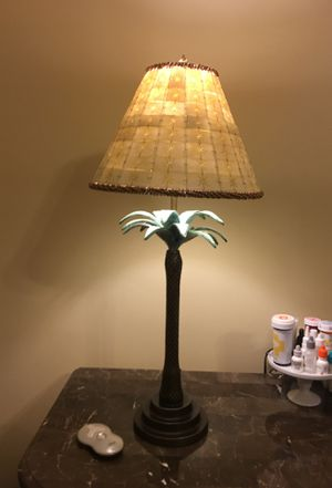 2 Unique Antique style lamp .. handmade beaded shade .. heavy and solid lamps for Sale in Gainesville, VA