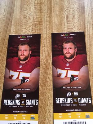 Skins vs Giants Tickets -Lower Level for Sale in Fairfax Station, VA