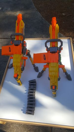 Nerf Vulcan chain guns lot of 2 for Sale in Knightdale, NC