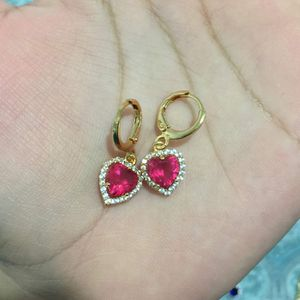 18k gold plated love heart earrings dangles women's jewelry accessory for Sale in Silver Spring, MD