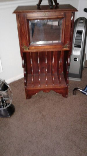 Record stand with glass door for Sale in Oxon Hill, MD