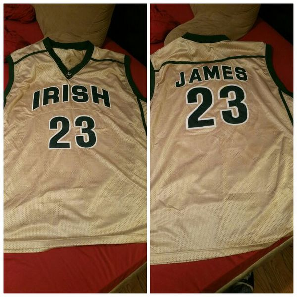 online store aaaf4 b40e1 Lebron James Throwback High School Irish Jersey for Sale in Harvey, IL -  OfferUp