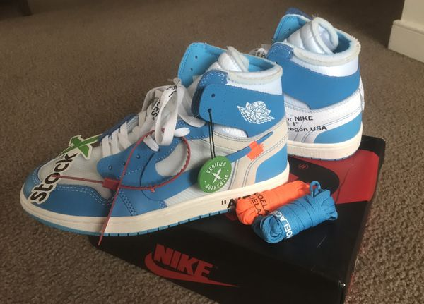 2dce62b55a25 Air Jordan 1 x Off-White UNC (StockX Verified) for Sale in Richmond ...