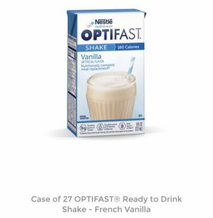 OPTIFAST Vanilla Ready-to-Drink Shake Case of 27 for Sale in Oxon Hill, MD