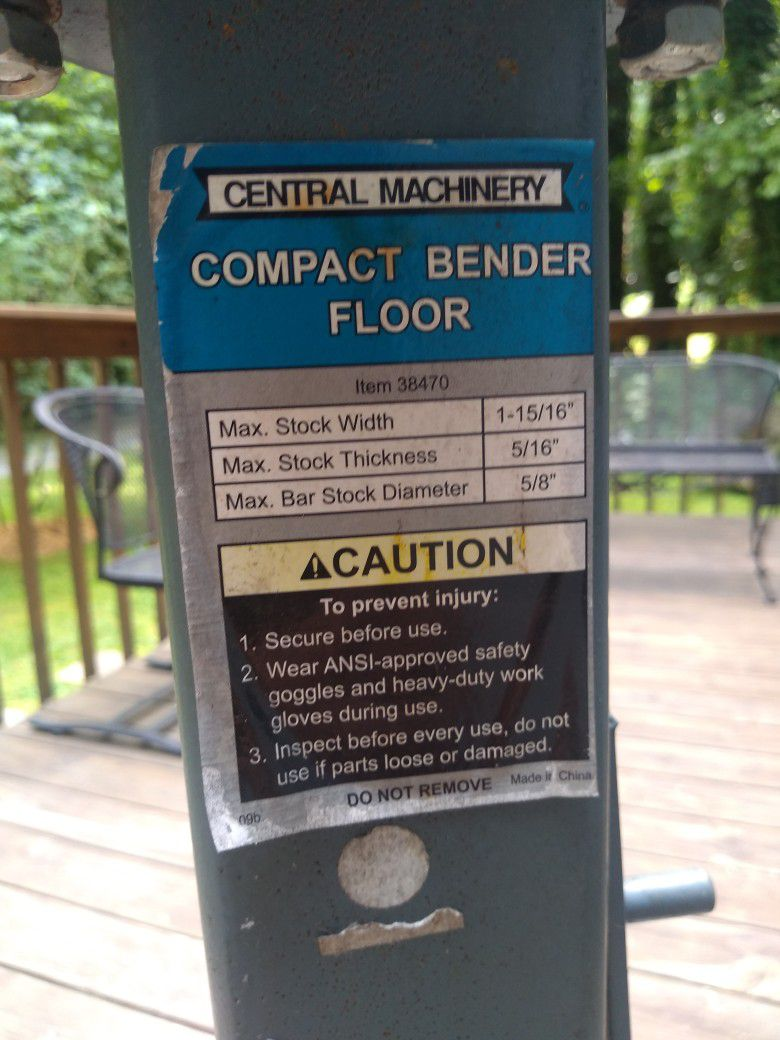 Compact Metal  Bender Floor Mount