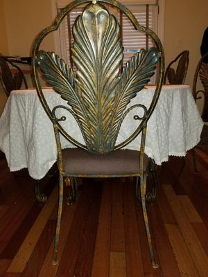 6 cast iron dining room chairs, and dining room table! for Sale in Fort Belvoir, VA