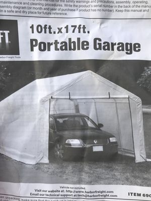 Portable Garage 10ft wide by 17ft long for Sale in Silver Spring, MD