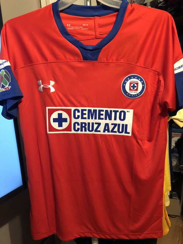 208ace46c85 2018 2019 CRUZ AZUL Official Under Armor Soccer Jersey 3rd Version ...