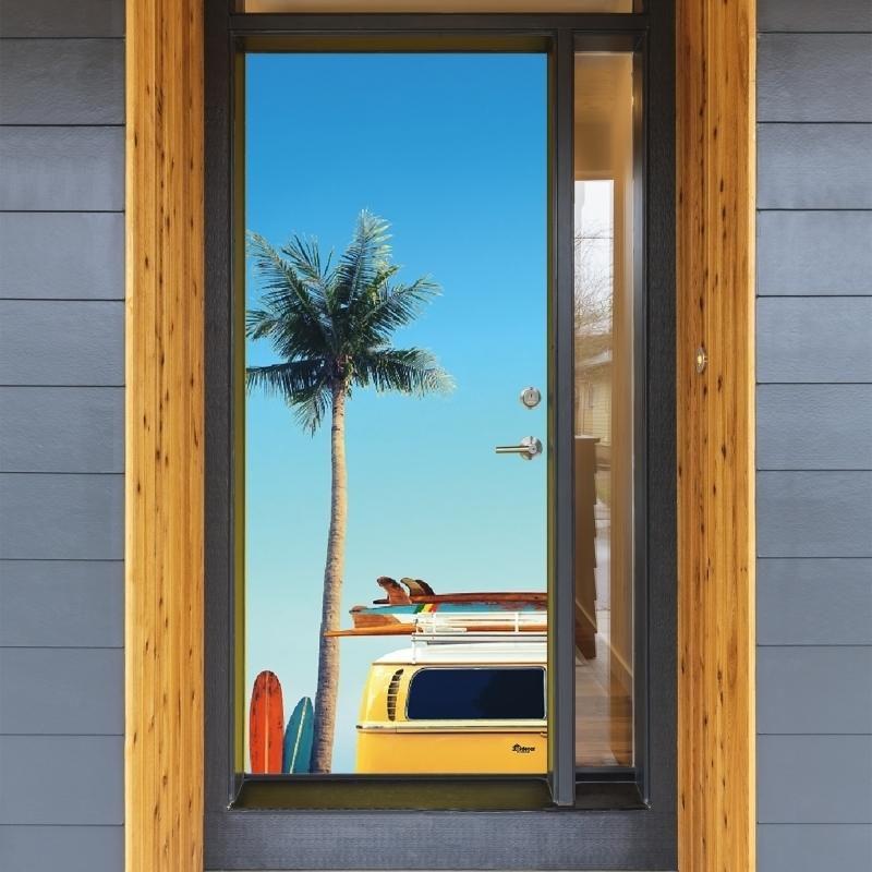 My Door Decor 285906NATR-006 36 x 80 in. Surf Life Nature Front Door Mural Sign Banner Decor, Multi Color