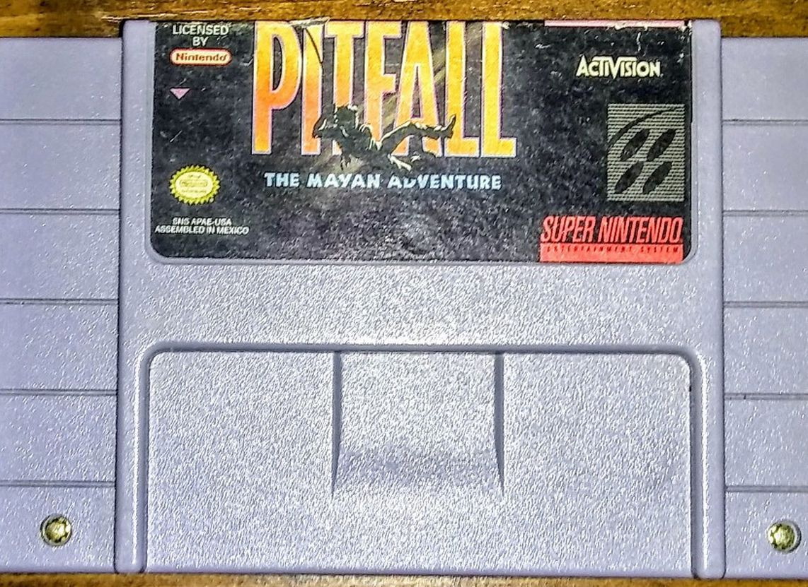 👍😎 ACTION ( PITFALL THE MAYAN ADVENTURE ) Video Game Super Nintendo Entertainment System ⭐🎮