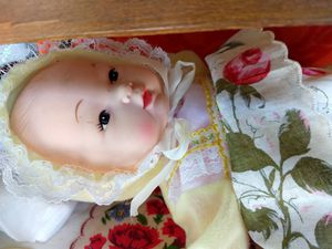 Vintage baby doll bunk bed with two dolls and toys for Sale in Winston-Salem, NC
