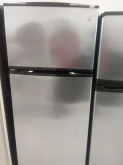 Kenmore top and bottom stainless steel refrigerator used good condition 90days warranty Thumbnail