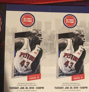 Pistons vs Cavaliers 1/30 - 10 rows from floor for Sale in Detroit, MI