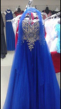 Blue and Gold Dress Thumbnail