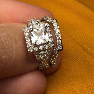 925 silver wedding engagement proposal ring set for Sale in Silver Spring, MD
