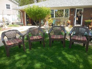 Outdoor Patio Chairs W Cushions Set Of 4 For In East Peoria