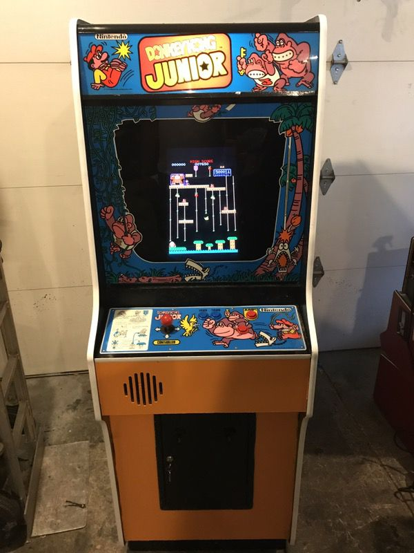 Refurbished Donkey Kong Jr Arcade Game Has 60 Games Pacman Galaga