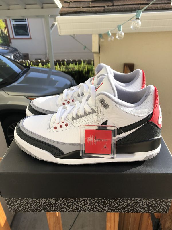 best loved 50964 aa57f AIR JORDAN 3 III RETRO TINKER HATFIELD NRG sz 10 black white cement fire  red (WITH RECEIPT!) for Sale in San Leandro, CA - OfferUp