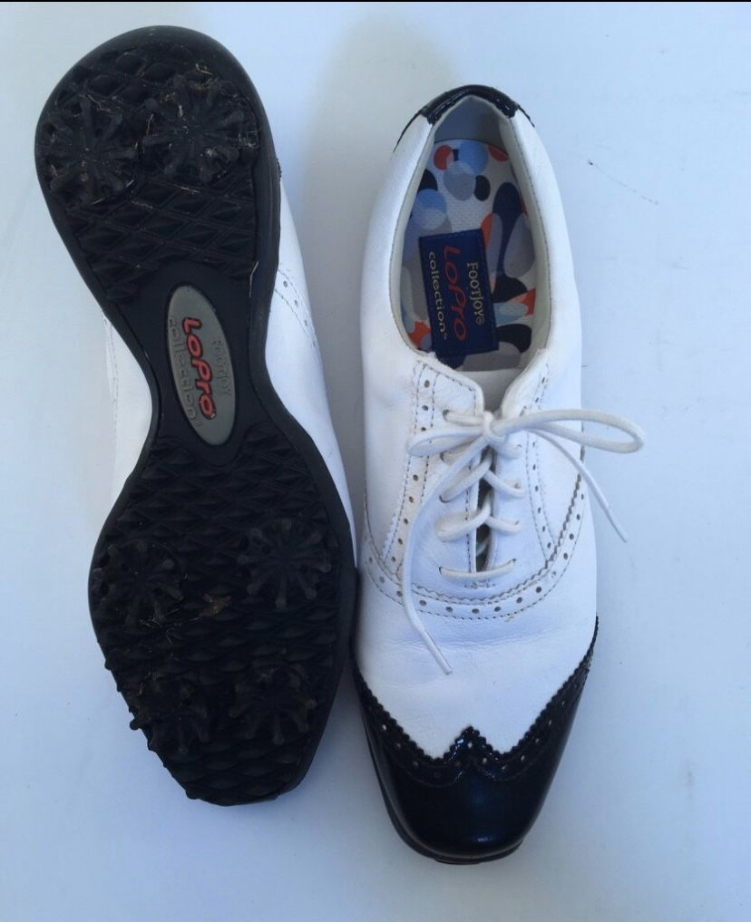 Footjoy Ladies Size 7M Golf Shoes In Great Condition—worn maybe twice!