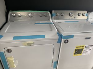 Photo Maytag bravos washer & dryer set in white new 2019