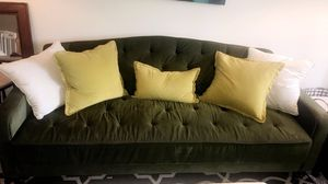 Green tufted couche great condition for Sale in Falls Church, VA