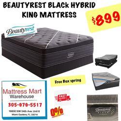 BEAUTYREST BLACk HYBRID KING MATTRESS  Thumbnail