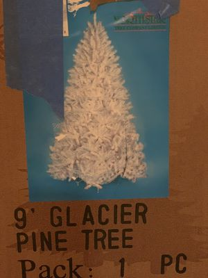 9 Foot Tall Glacier White Pine Christmas Tree for Sale in Streamwood, IL
