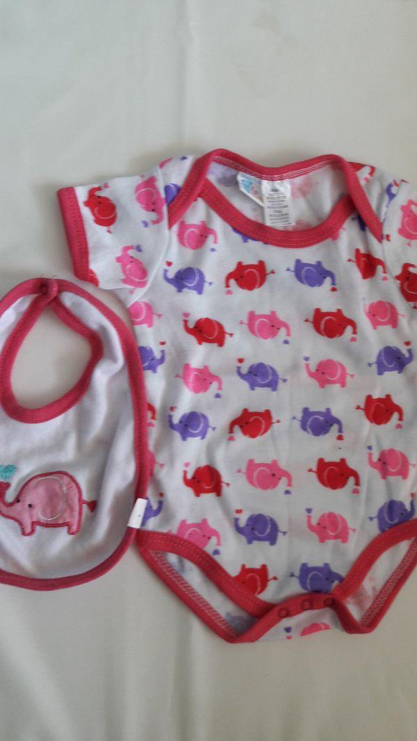 3 6m onesie and bib for sale in dallas tx offerup