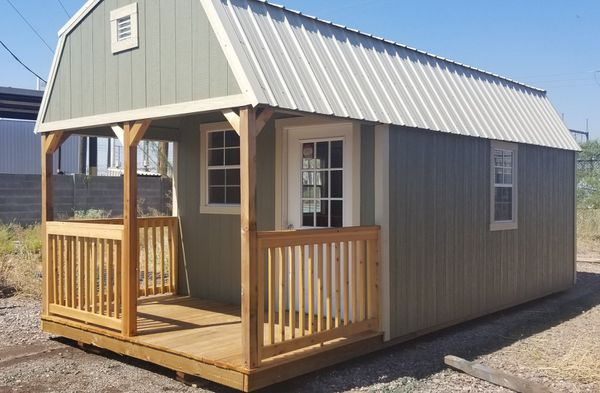 Lofted Barn Cabin 10x24 Storage Office Man Cave She Shed