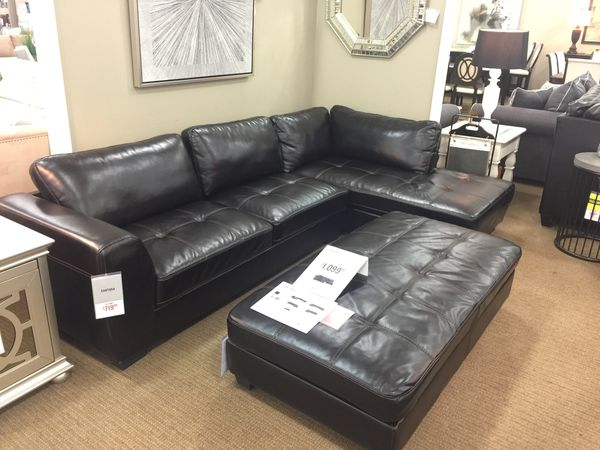 Sensational Santana Leather Sectional For Sale In Detroit Mi Offerup Andrewgaddart Wooden Chair Designs For Living Room Andrewgaddartcom
