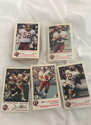 Lot of about 100 Redskin frito lay football trading cards from 80s for Sale in Rockville, MD