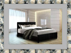 Platform bed new with free mattress and free shipping for Sale in Manassas, VA