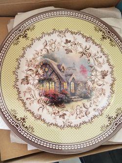 Thomas kinkade plates set of 4 Thumbnail
