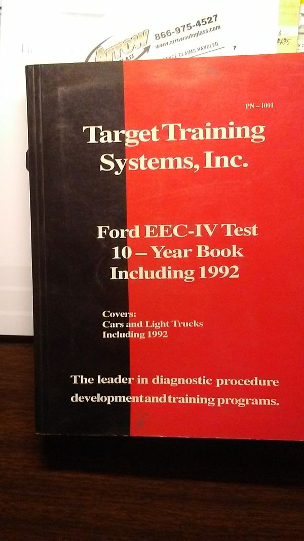 TTS(PN-1001)Ford EEC-IV Test 10yr book 1992 for Sale in Scranton, PA -  OfferUp