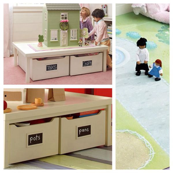 pottery barn kids activity table drawers and play mat for sale in seattle wa offerup. Black Bedroom Furniture Sets. Home Design Ideas