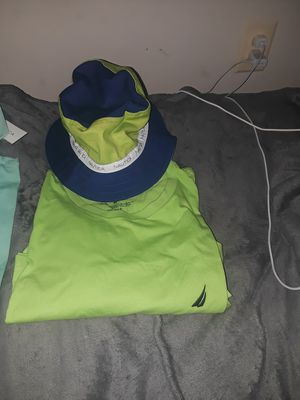 Nautica shirt with matching bucket Hat for Sale in Baltimore, MD