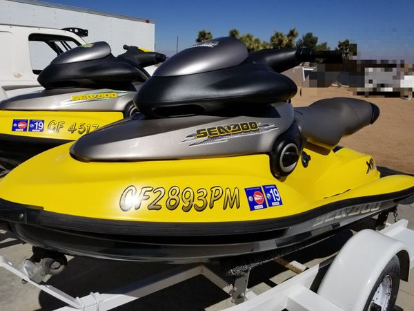 1998 and 1998 seadoo xp limited bombardier pwc with trailer for Sale in  Phelan, CA - OfferUp