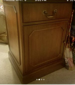 Pair of large solid wood night stands for Sale in Kensington, MD